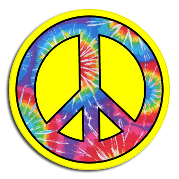 Tie Dye Shirt Designs Peace Sign